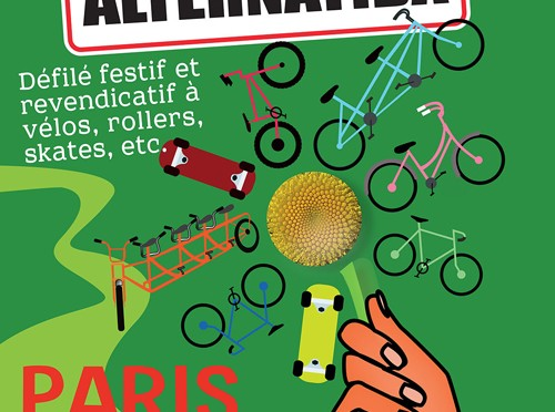 On s'mobilise. Arrivée du tour Alternatiba à Paris