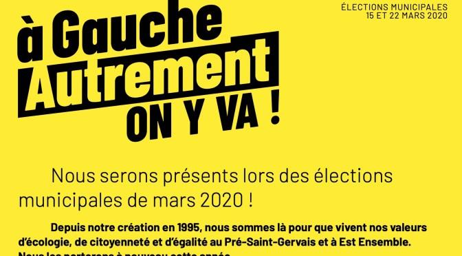 Nous serons présents lors des élections municipales de mars 2020 !